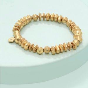 Nicolette Stretch Bracelet Gold